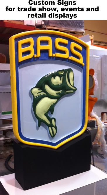 custom foam signs for retail, events and trade shows