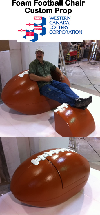 Big Football Chair Foam Prop