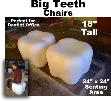 Big Giant Teeth Molars