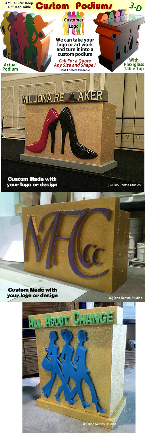 Custom Made Foam Podiums