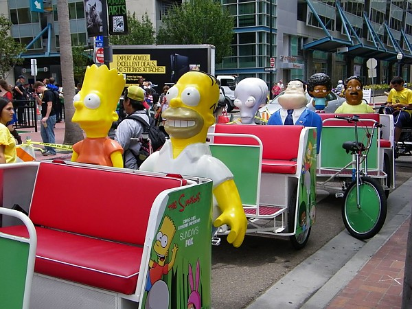 Simpsons Pedicabs Comic Con