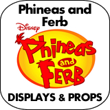 Phineas and Ferb Cardboard Cutout Standup Props