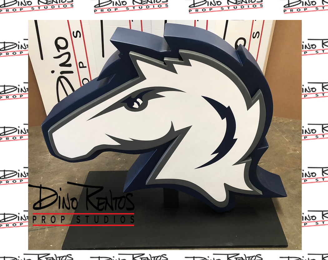 Custom Foam Charger Head Logo for Hillsdale College