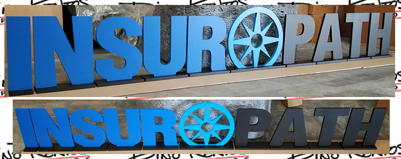 Custom Expanded PVC Letters and Logo for Lobby and Tradeshow Displays