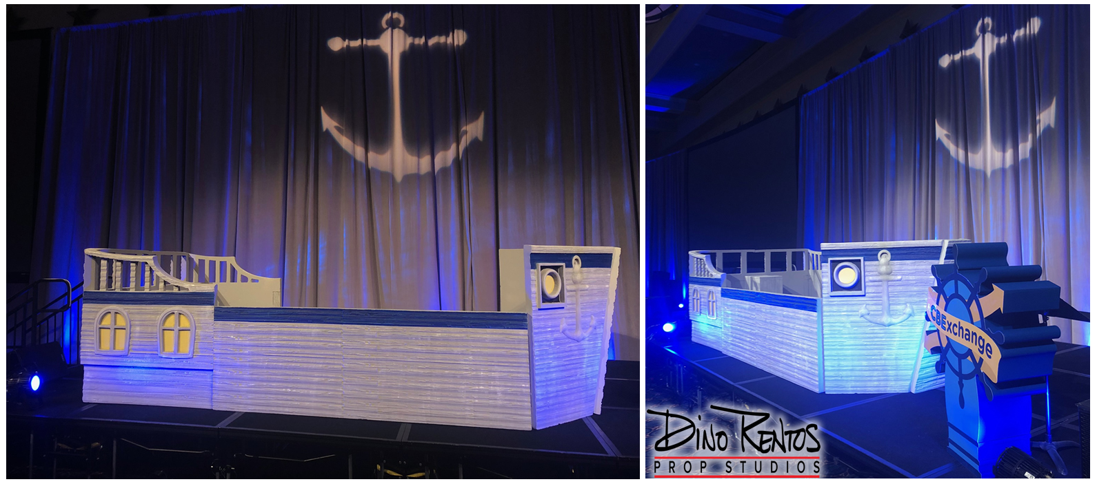 Foam Pirate Ship Display Prop for CBExchange 2018 Conference in Orlando Florida
