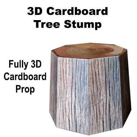 3D Cardboard Stump