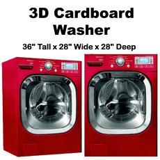 3D Cardboard Washer
