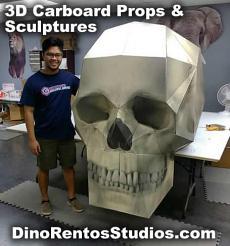 3D Cardboard Giant Skull