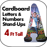 4 Foot Tall Cardboard Letters-Numbers Standup