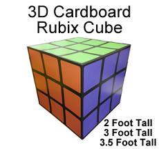 3D Cardboard Giant Rubix Cube