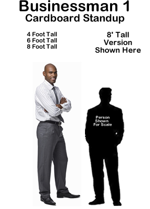 Businessman 1 Cardboard Cutout Standup Prop
