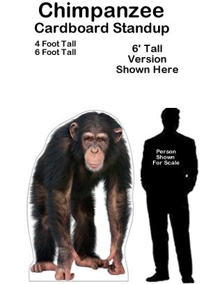 Chimp Cardboard Cutout Standup Prop