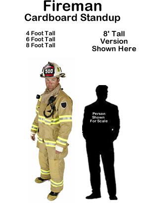 Fireman Cardboard Cutout Standup Prop
