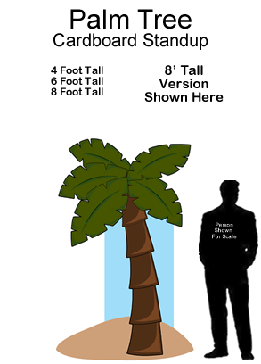 Palm Tree Cardboard Cutout Standup Prop