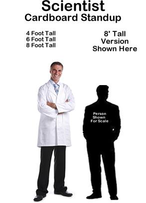 Scientist Cardboard Cutout Standup Prop