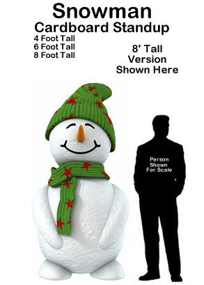 Snowman 1 Cardboard Cutout Standup Prop
