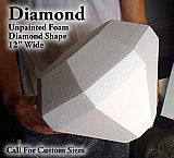"Foam Diamond Prop 12"" Wide - Unfinished Foam"