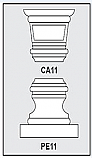 CA11-PE11 - Architectural Foam Shape - Capital & Pedestal