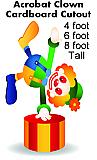 Acrobat Clown Cardboard Cutout Standup Prop
