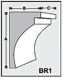 BR1 - Architectural Foam Shape - Bracket