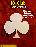 10 Inch Club Foam Shape Silhouette