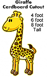 Giraffe Cartoon Cardboard Cutout Standup Prop