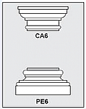 CA6-PE6 - Architectural Foam Shape - Capital & Pedestal