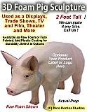 3D Foam Cartoon Pig Prop