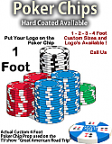 """Giant Foam Casino Poker Chip Prop - 12"""" Wide"""