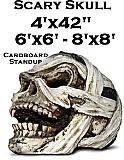 Scary Skull Cardboard Cutout Standup Prop