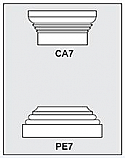 CA7-PE7 - Architectural Foam Shape - Capital & Pedestal