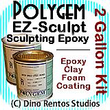 Polygem EZ Sculpt Epoxy Clay Foam Coating - 2 Gallon