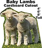 Baby Lambs Cardboard Cutout Standup Prop