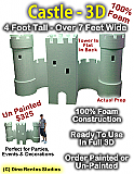 Big 3D Castle Foam Prop