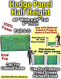 "Hedge Panel 24"" Tall x 48"" Wide x 6"" Thick Foam Display Prop"