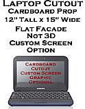 Laptop Cardboard Cutout Standup Prop