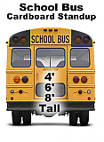 School Bus Back Cardboard Cutout Standup Prop