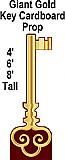 Gold Key Cardboard Cutout Standup Prop