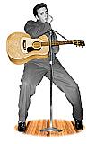 Elvis Singing - Elvis Cardboard Cutout Standup Prop