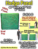 "Hedge Panel 42"" Tall x 48"" Wide x 6"" Thick Foam Display Prop"