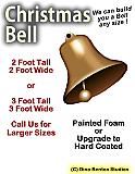 Christmas Bell 3D Foam Prop