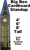Big Ben Cardboard Cutout Standup Prop