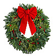 Christmas Wreath Cardboard Cutout Standup Prop