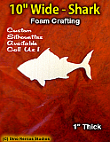 10 Inch Shark Foam Shape Silhouette