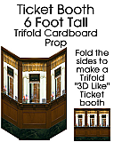 Ticketbooth / Box Office Cardboard Cutout Standup Prop