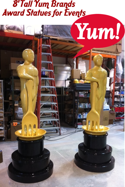 Big Award Statue Foam Prop